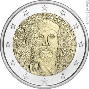 Vuoden 2013 kahden euron erikoisraha F.E. Sillanpaa proof kotelossa
