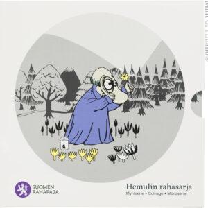 Hemulin rahasarja sisältää Suomen vuoden 2014 metalliset käyttörahat himmeäkiiltoisina sekä Tove Janssonia muistavan mitalin.