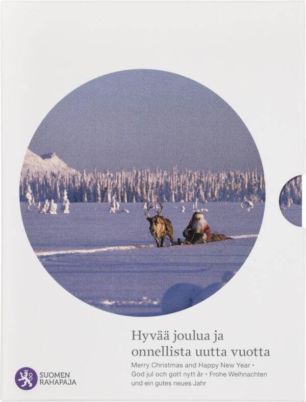 Joulurahasarja sisältää käyttörahat vuodelta 2014 himmeäkiiltoisina, ja sen kruunaa joulupukkimuistomitali.