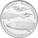 Rahasarja 2016/I BU Itämeren kalat silakka sisältää Suomen vuoden 2016 metalliset käyttörahat himmeäkiiltoisina sekä silakkajetonin.