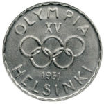 Vuonna 1951 lyödään Helsingin vuoden 1952 olympialaisia varten juhlaraha, joka on maailman ensimmäinen olympiaraha.